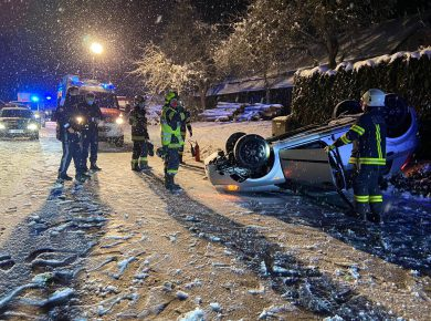 Verkehrsunfall FF Bruck-Waasen